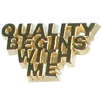 Quality Begins with Me Lapel Pin