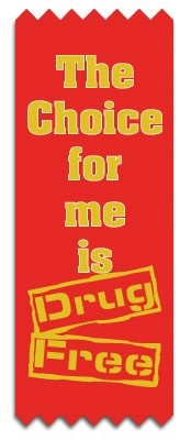 Red Ribbon - The Choice For Me Is Drug Free