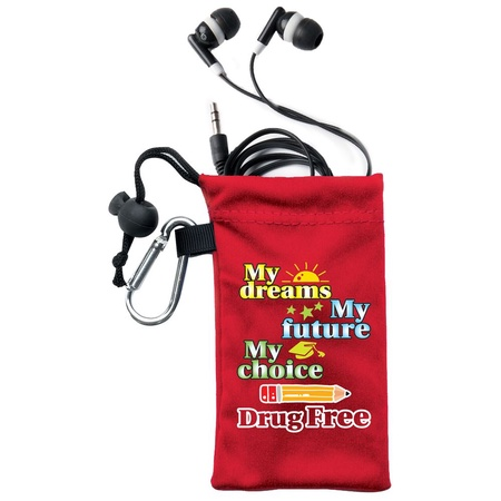 Red Ribbon Week Drug Prevention Ear Bud Kits