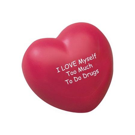 Red Ribbon Week Heart Stress Ball