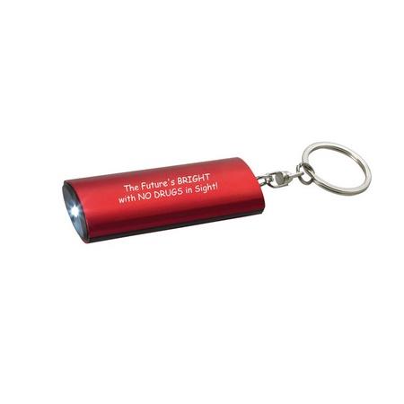 Red Ribbon Week Key Chain Flashlight