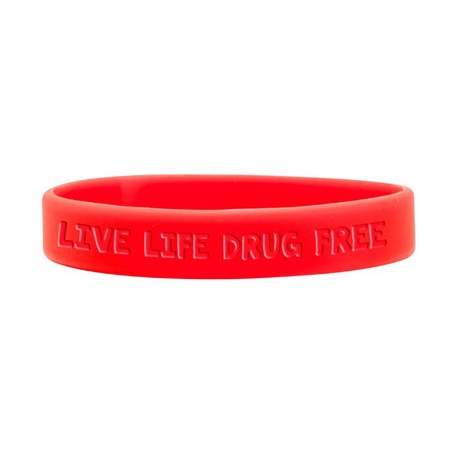 Red Ribbon Week Silicone Bracelets