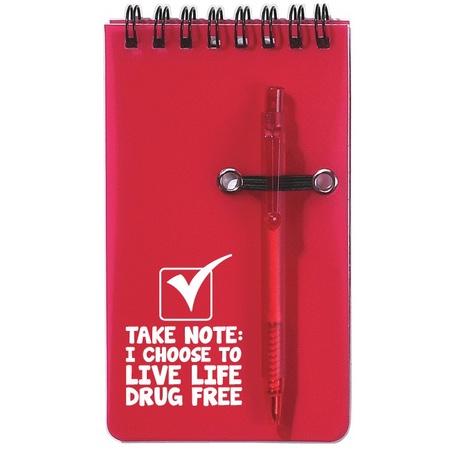 Red Ribbon Week Spiral Jotter & Pen