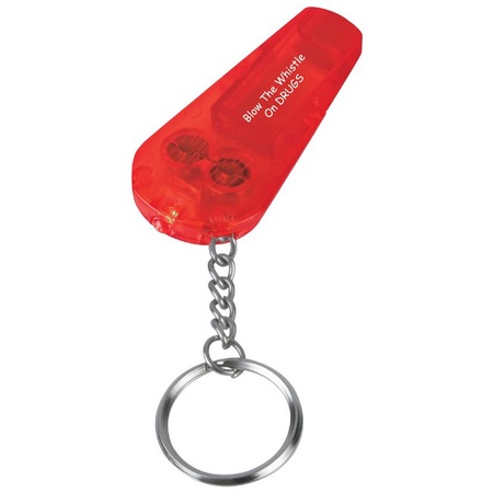 Red Ribbon Week Whistle Light & Key Chain