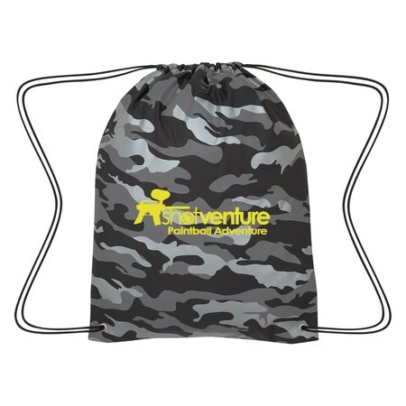 Reflective Camo Drawstring Sports Pack
