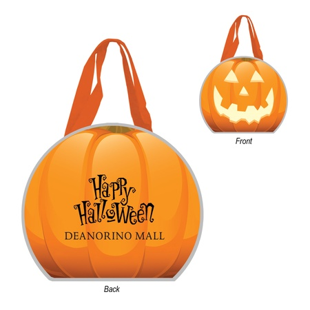 Reflective Halloween Pumpkin Personalized Tote Bags