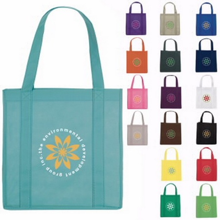 "Reusable Grocery Tote - 12-3/4"" x 13-1/4"" x 8-5/8"""