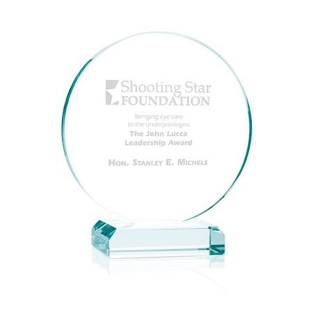 Laser Etched Round Award