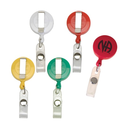 Round Retractable Coil Custom Badge Clips