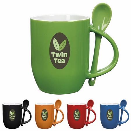 11 oz. Promotional Rounded Spooner Mugs