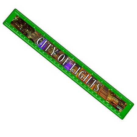 """Ruler with Full Color Imprint - 12"""""""