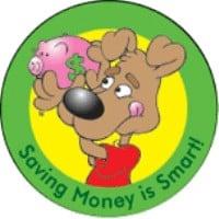 Saving Money Is Smart Stickers