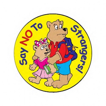 Say No To Strangers Stickers