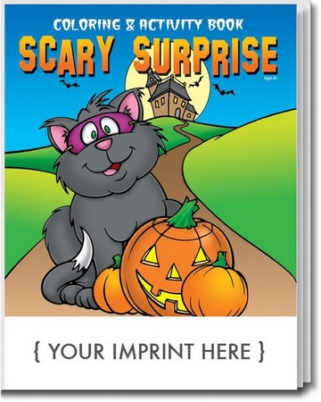 Scary Surprise Halloween Coloring & Activities Book