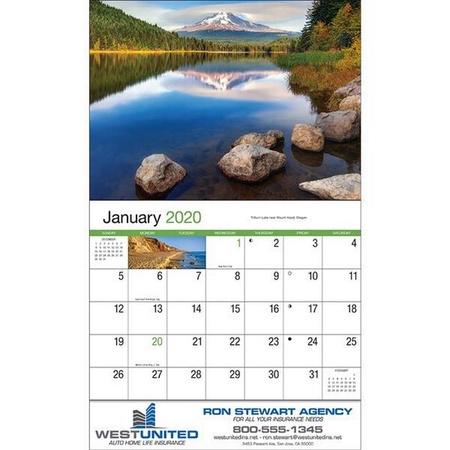 Scenic America Wall Calendar - 2020