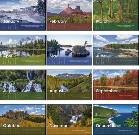 Scenic Moments 2022 Personalized Desk Calendars