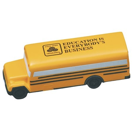 Custom Printed School Bus Stress Balls