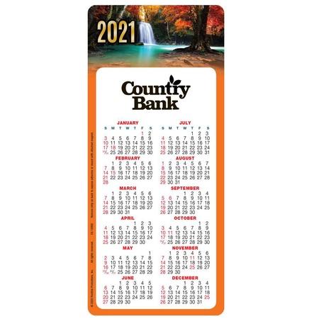 Seasonal Water Fall E-Z Stick Magnetic 2021 Calendars