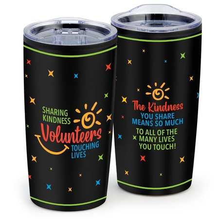 Sharing Kindness, Touching Lives Stainless Steel Tumbler Volunteer Gift