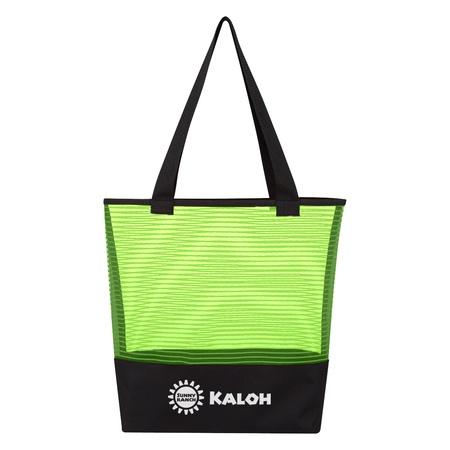 Sheer Mesh Pinstripe Custom Tote Bags