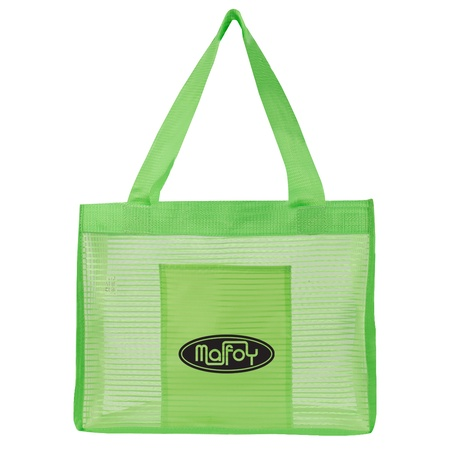 Sheer Striped Promotional Tote Bags