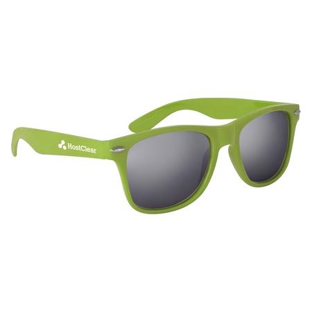 Silver Mirrored Malibu Sunglasses