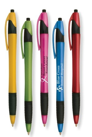 Custom Slimster Color Pens with Grip