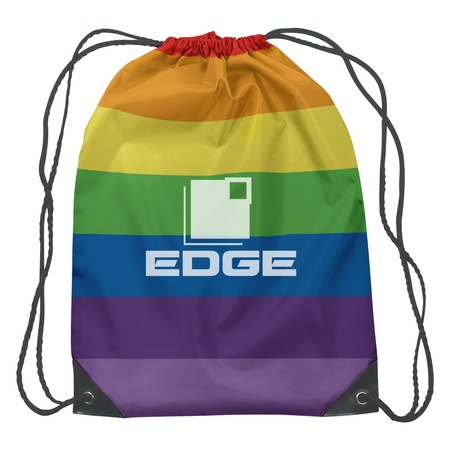 Rainbow Sports Backpack with Imprint