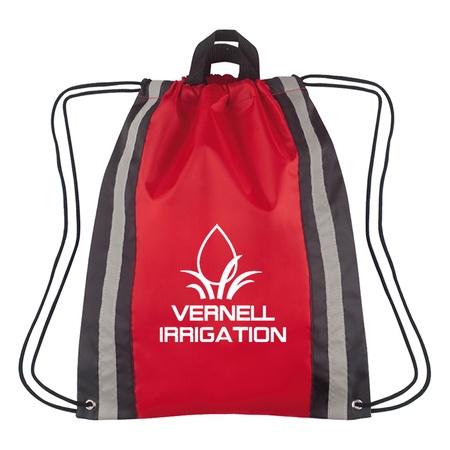 Small Reflective Logo Drawstring Backpacks