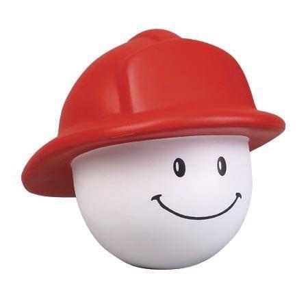 Smiling Fireman Stress Balls with Imprint