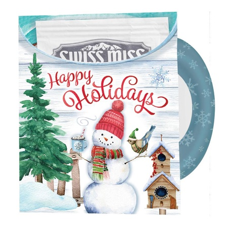 Snowman Mug-Shaped Greeting Card With Hot Chocolate