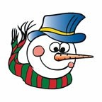 Snowman Temporary Tattoo