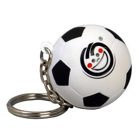 Logo Soccer Ball Stress Ball Key Chain