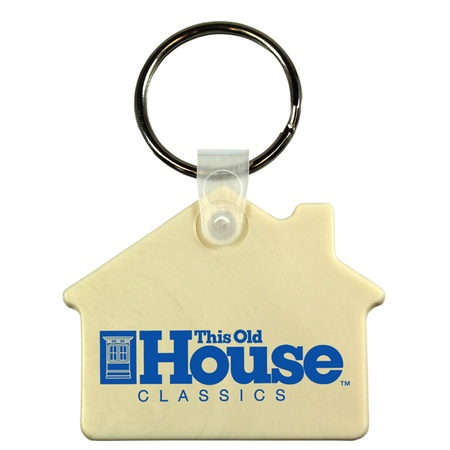Soft House Shape Promotional Key Fobs