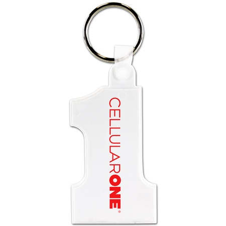 Soft Number One Custom Key Fobs