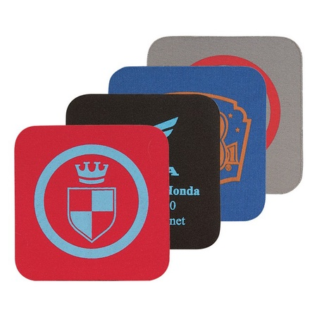 Soft Rubber Square Coasters with Printing