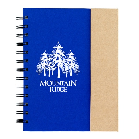 Imprinted Spiral Notebook with Sticky Notes & Flags