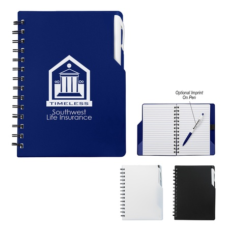 Spiral Promotional Notebook with Pen