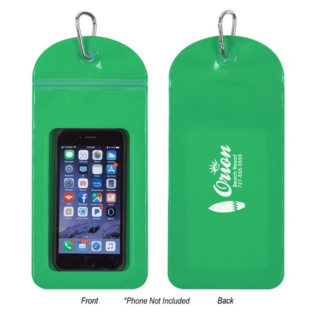Splash Proof Logo Phone Pouch With Carabiner