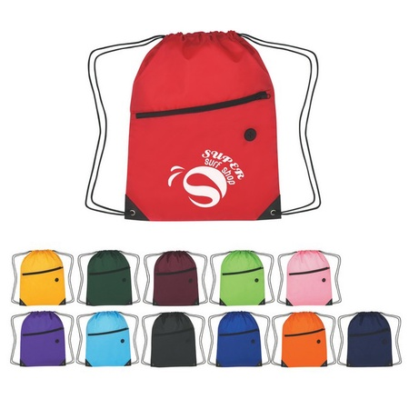 Custom Sports Drawstring Backpack with Zipper