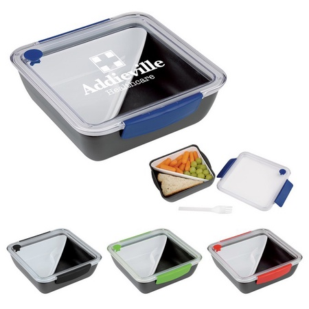 Custom Printed Square Lunch Set