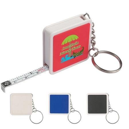 """Square Tape Measure Key Tag - 39"""""""