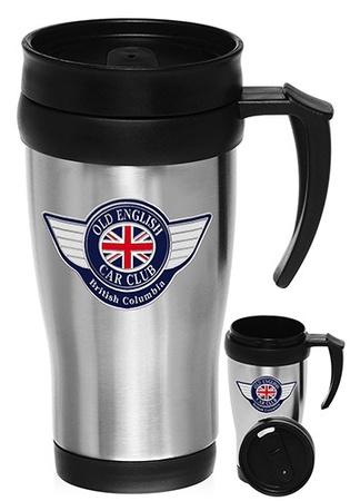 Stainless Steel 14 oz. Custom Travel Mugs with Handles