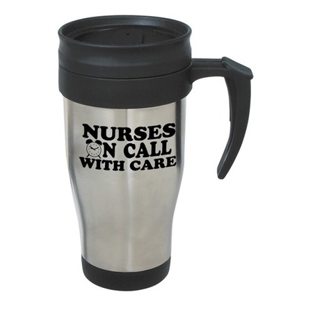 Stainless Steel Travel Mug Nurse Gift with Slogan