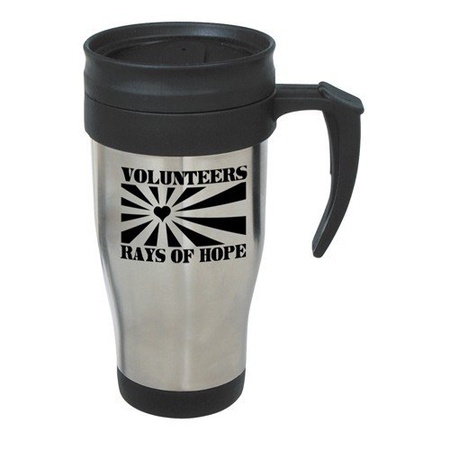 Stainless Steel Travel Mug Volunteer Gift with Slogan