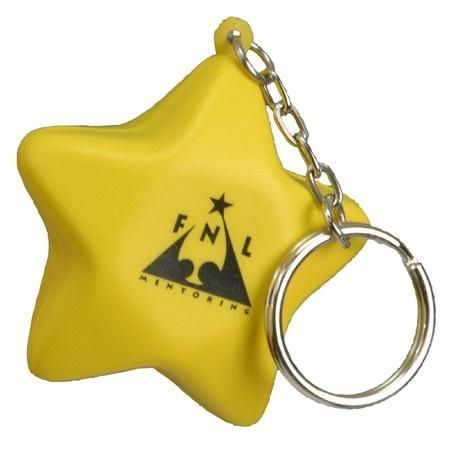 Custom Star Stress Ball Key Chains