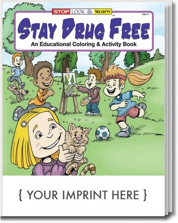 Stay Drug Free Coloring & Activities Book Personalized