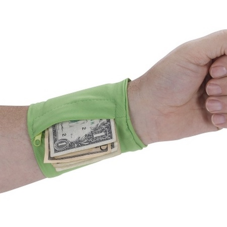 Imprinted Stretch Wristband With Pocket