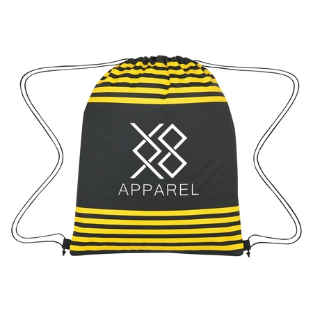 Striped Custom Drawstring Sports Pack