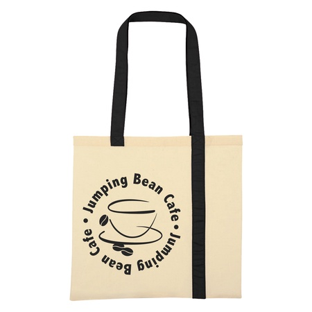 Striped Economy Canvas Promotional Tote
